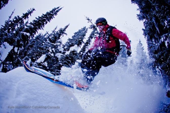 Skiing at Big Red Cats